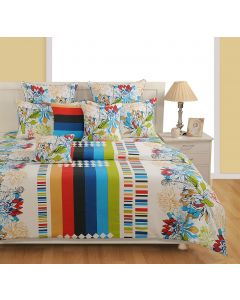 Cotton White Colour Bedsheet With Pillow Covers