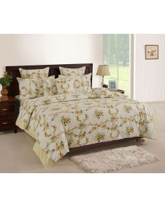 White Colour Bedsheet With Matching Pillow Covers