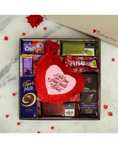Chocolate Hamper & Heart-shaped Cushion
