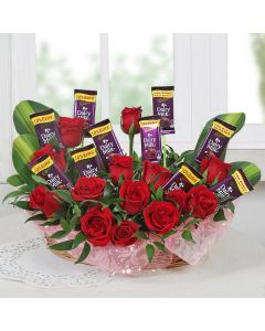 15 Roses & Chocolates Combo