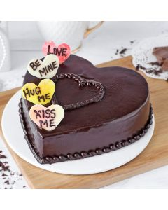 Chocolate Heart Cake for Valentines
