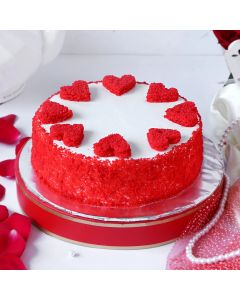 Red Velvet Round Cake for Valentines