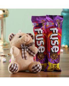 Teddy Bear With Fuse Chocolate