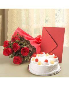 Cake & Roses Hamper