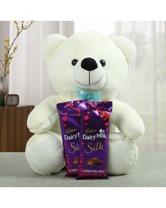 Lovely Teddy With Chocolate