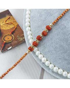 Buy Rudraksh Thread Bracelet Rakhi Online