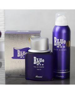 Blue EDT & Deodorant Set for Men