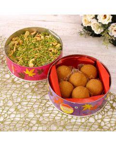 Special Ladoo With Kaju Pudina
