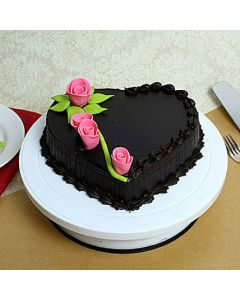 Beautiful Heart Shaped Chocolate Cake