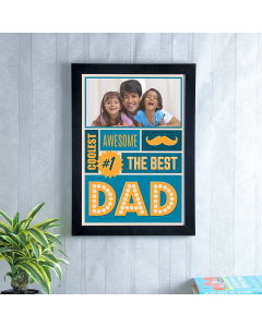 Best Daddy Personalized Photo Frame A3