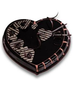 Buy Veg Chocolate Heart Cake Online