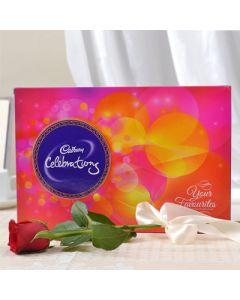 Cadbury Celebration with a Propose Rose