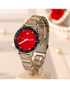 Buy Formal Fastrack Silver Watch For Women