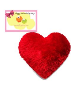 Heart Shape Pillow with Card