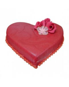 Buy Heart Shape Valentine Red Chocolate Cake Online (3 Kg)