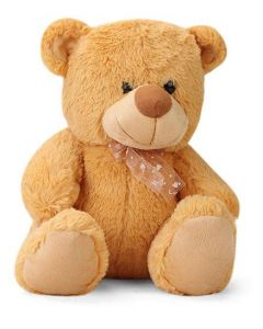 Huggable Beige Teddy Bear