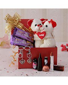 Hugging Bears with Kajal Nail Pop and Lipstick