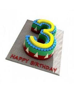 Buy Number-3 Cake Online (3 Kg)