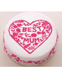 Best Mom Strawberry Flavour Cake