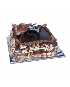 Chocolate Almond Brownie Cake