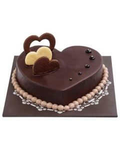 Buy Heartshape Chocolate Cake Online