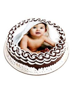 Buy Delicious Chocolate Photo Cake 1 kg Online