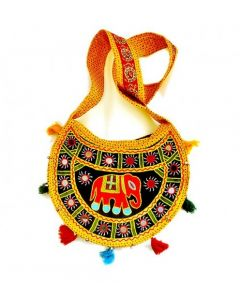Ethnic HardBound Jaipuri Hobo Bag