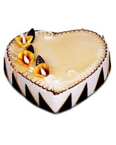 Buy Butter Scotch Heart Shape Cake Online