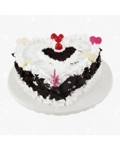 Eggless Heartshape Black Forest Cake