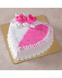 Buy Heart Shape Pink Strawberry Cake