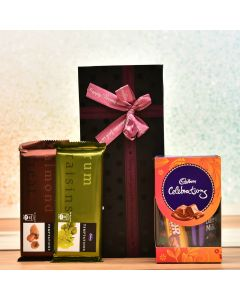 Gift Box With Cadbury Temptation Chocolates