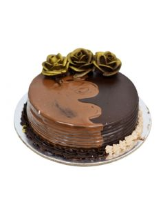 Golden Rose Nutella Chocolate Cake