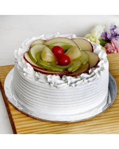 Fresh Seasonal Fruit (Kiwi, Strawberry, Lichi, Mango, Orange) Cake