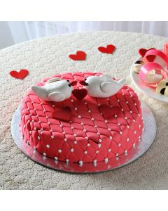 Kissing Birds Chocolate Cake