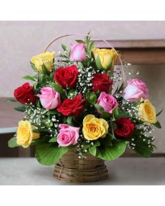 Mix Roses Basket
