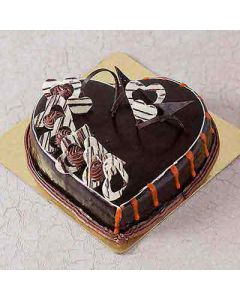 Buy Heart Shaped Dark Chocolate Cake Online