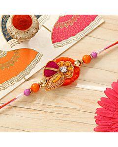 Buy Lovely Colorful Zardozi Rakhi Online