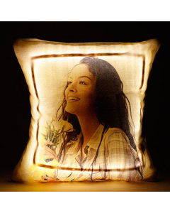 Personalised Cool Yellow LED Cushion