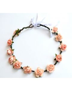 Buy Orange Rose Tiara Head Band Online