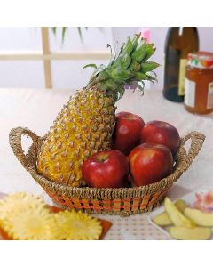 Pineapple WIth Apples Basket
