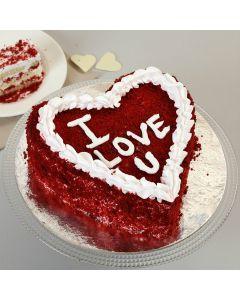 Red Velvet Hearts Cake