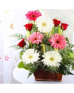 Roses & Gerberas Basket