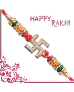 Send Auspicious Swastik Traditional Rakhi Online