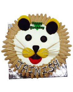 chocolate chips cake with tiger shape  (1 KG)