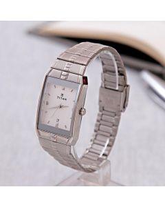 Send Formal Titan Silver Watch For Men