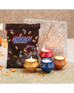 Send Special Snickers And Matka DIya Online