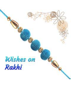 Send Turquoise Velvet Rakhi Online