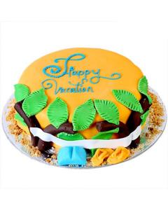 Buy Sweet Vacation Fondant Cake Online