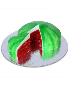 Buy Red & Green Watermelon cake Online