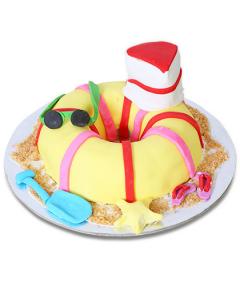 Buy Swim Tube Fondant Cake Online